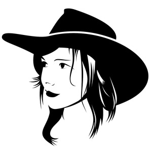 Free Cowgirl Vector