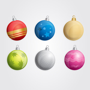 Free Six Free Vector Christmas Baubles