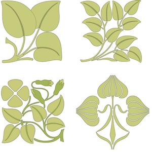 Free Floral Brushwork Designs