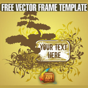 Free Free Vector Floral Tree Frame Template