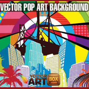 Free Awesome Free Vector Pop Art Style Background
