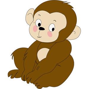 Free Monkey Cartoon Character- Free Vector.