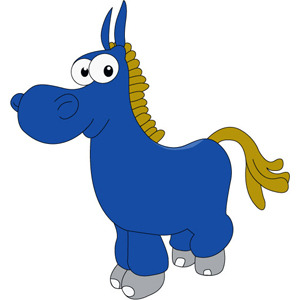 Free Donkey Cartoon Character- Free Vector.