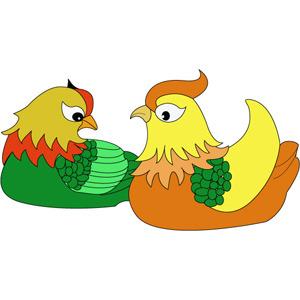 Free Chicken Cartoon Character- Free Vector.