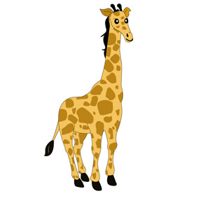 Free Giraffe Cartoon Character- Free Vector.