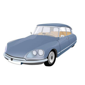 Free Iconic French Car -Citroen DS
