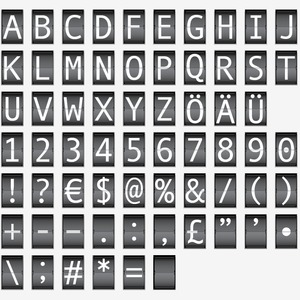 Free Airport Flip Board Style Letters