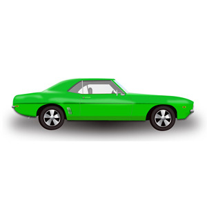 Free Green Hot Rod Car -Free Vector