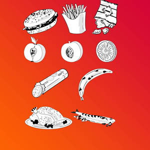 Free Vectors: Vector Food Doodles. | VectorFantasy