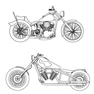 Free Free Vector- Harley Davidson Sketches