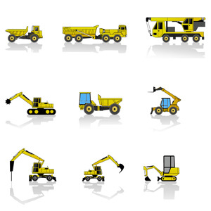 Free Free Construction Machines Vector Pack