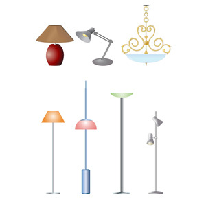 Free Electric Lamps- Free Vectors