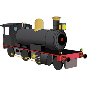 Free Free Steam Locomotive Vector