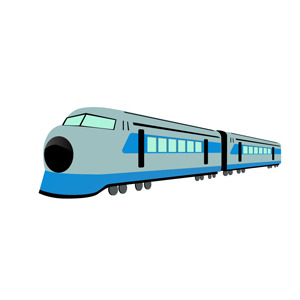 Free High Speed Train Free Vector Illustration.