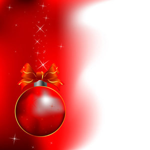Free Red Christmas Vector Design