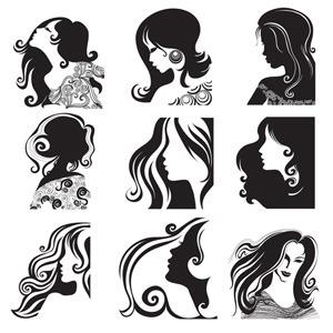 Free Women Face Vectors