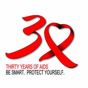 Free 30 Years Of HIVAIDS Ribbon