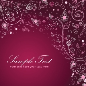 Free Floral Decorative Postcard
