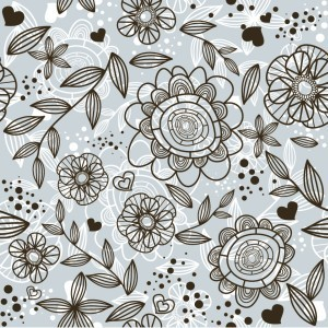 Free Grey Floral Pattern Background