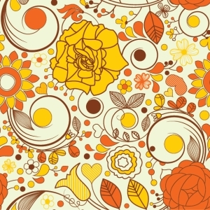 Free Vectors: Autumn Floral Background | Tree Vector