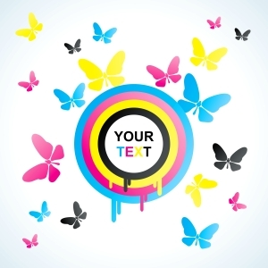 Free Colourful Butterfly Background