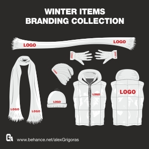 Free Winter Items Branding Collection