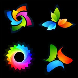 Free Colorful Logotype Set