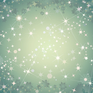 Free Abstract Green Background With Stars