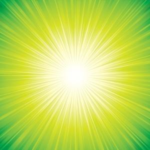 Free Green Sunbeam Background