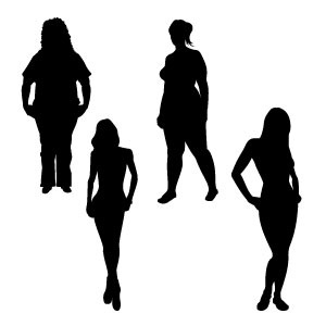 Free Girl Silhouettes