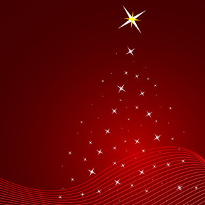 Free Red Christmas Vector Background