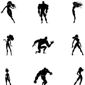 Free Heros Vector Set