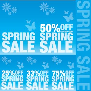 Free Spring Sale Signs
