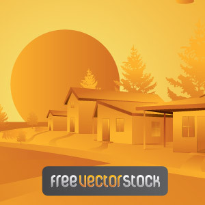 Free Orange Landscape Vector