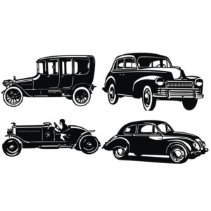 Free Old Car Silhouettes