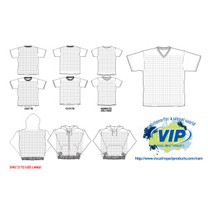 Free VIP T-Shirt & Hood Templates