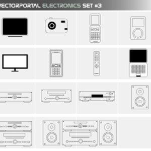 Free Vectorportal Electronics Set