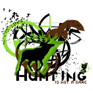 Free Is Not A Game Hunting Vector