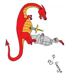 Free St George Dragon Vector