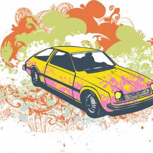 Free Grunge Hatchback Vector Illustration