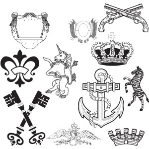 Free Vectors: Heraldic Elements | Unknown