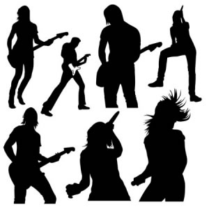 Free Live Music Vector Silhouettes