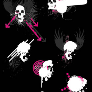 Free Skulls Vector - Ben Blogged