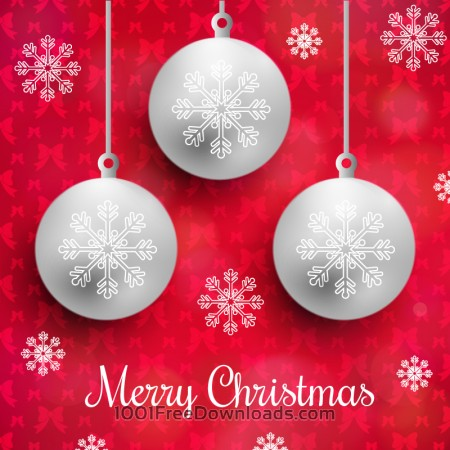 Free Christmas background with typography and globes