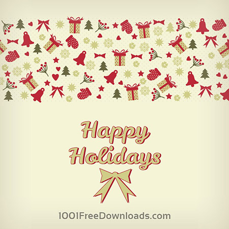 Free Christmas background with snowflakes