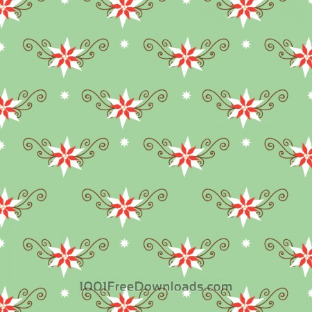 Free Christmas pattern with christmas decorations