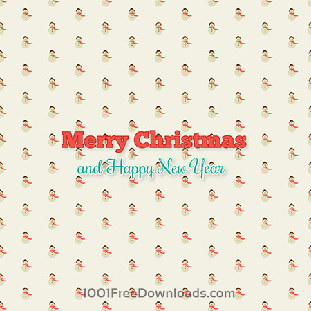 Christmas background with typography and christmas tree