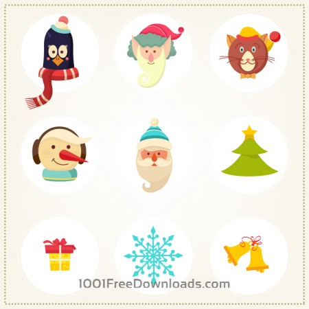 Free Christmas background with christmas icons