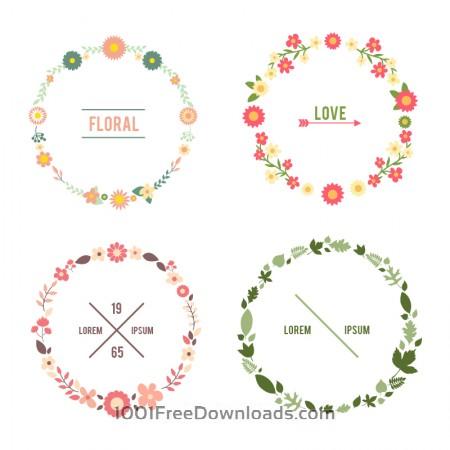 Free Floral frame set