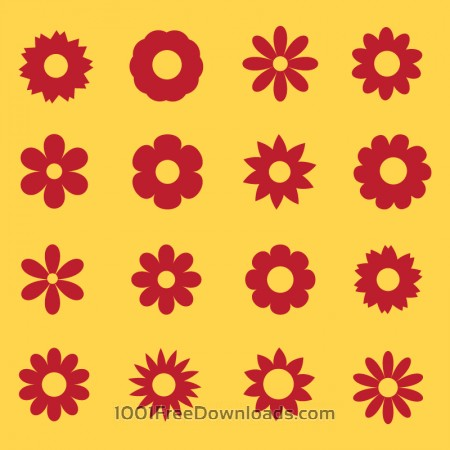 Free Flowers vector set